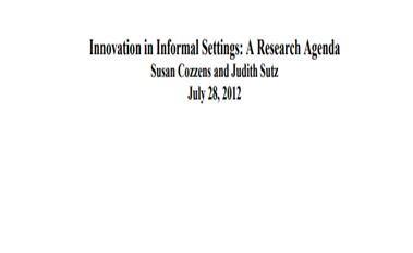 A guide to innovation in informal settings