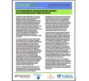 Core Competencies for Agricultural Extension Educators