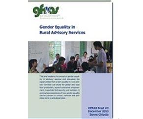 GFRAS – Gender Equality in RAS-Gender Equality in Rural Advisory Services