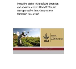 Increasing access to agricultural extension and advisory services