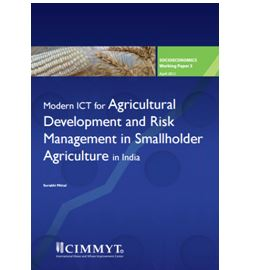 Modern ICT for Agricultural Development and Risk Management in Smallholder Agriculture in India