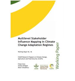 Multilevel stakeholder influence mapping in climate change adaptation regimes Working Paper 46