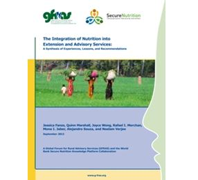 The Integration of Nutrition into Extension and Advisory Services A Synthesis of Experiences, Lessons, and Recommendations