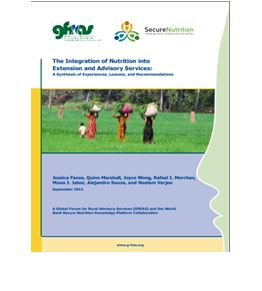 The Integration of Nutrition into Extension and Advisory Services