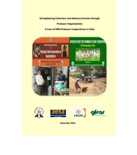 Producer Organisations and Extension A Case of Dairy Cooperatives in India
