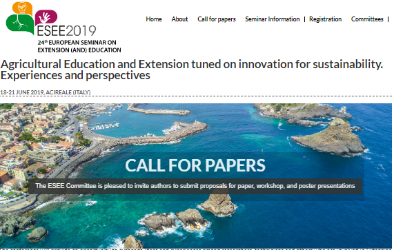 24th European Seminar on Extension and Education- ESEE 2019