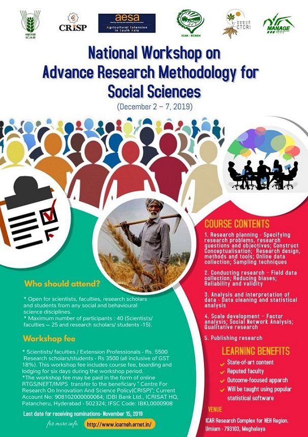 National Workshop on Advance Research Methodology for Social