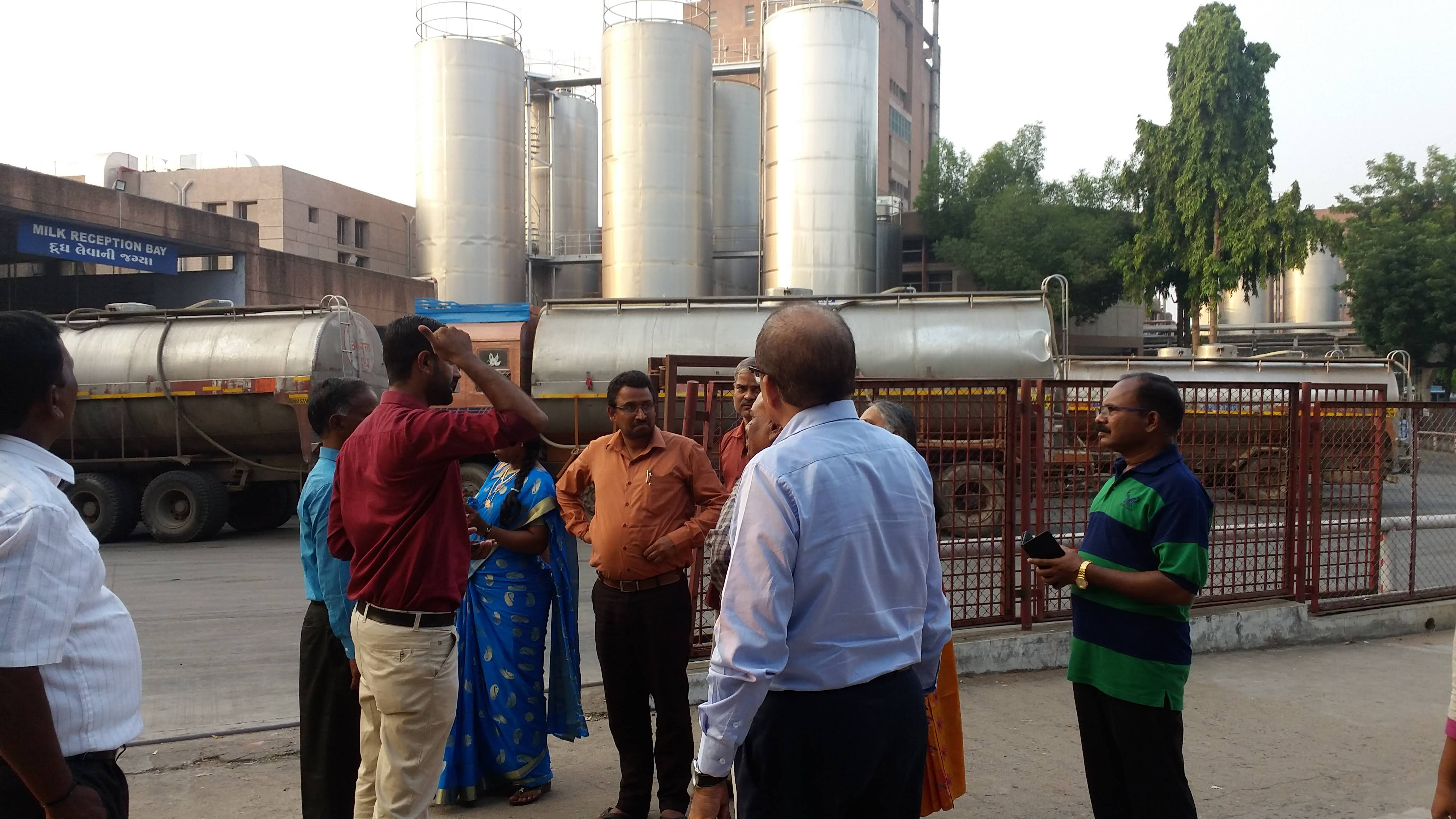 visiting AMUL factory