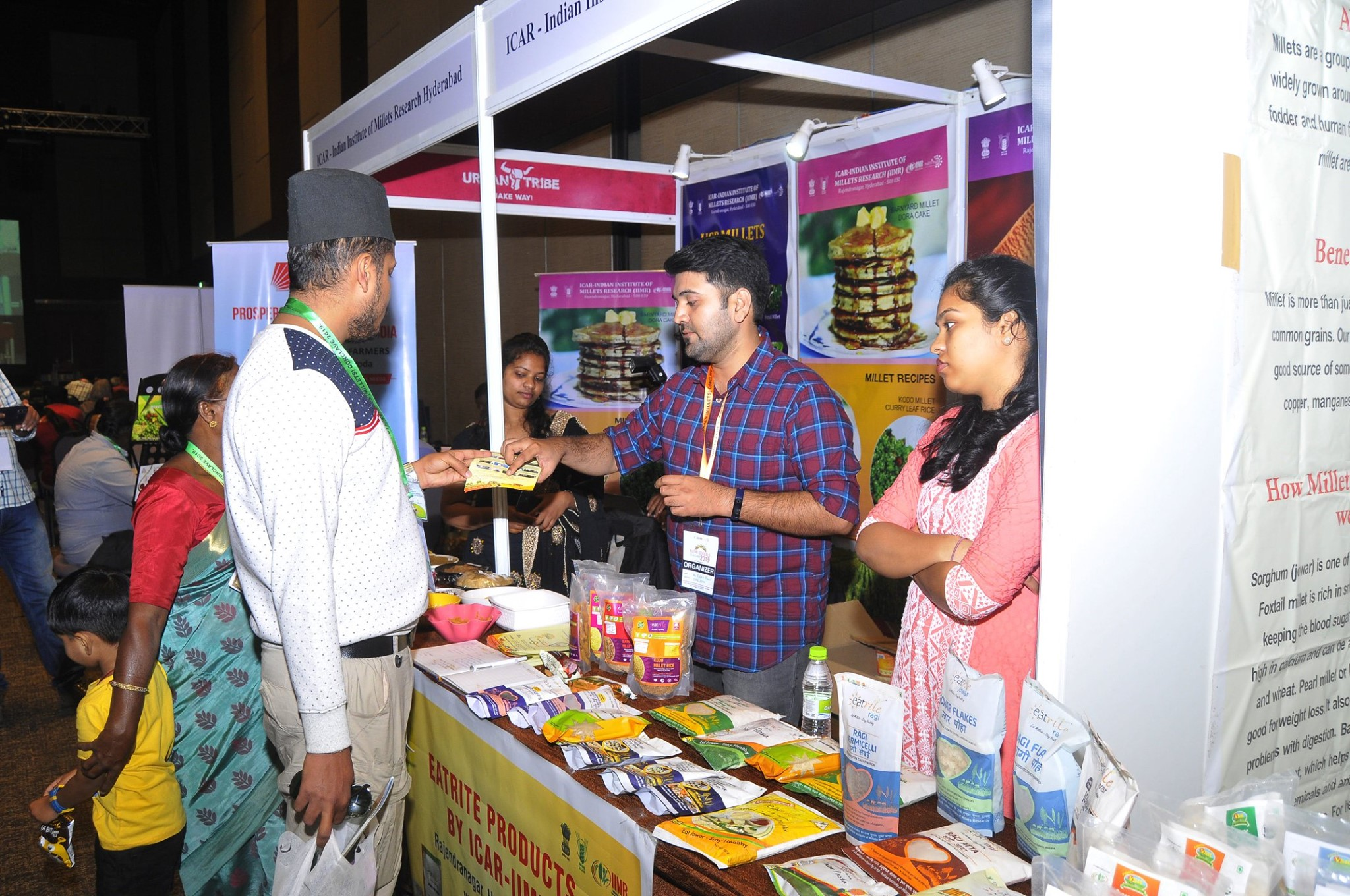 Startups exhibited and promoted the millets based products during the conclave