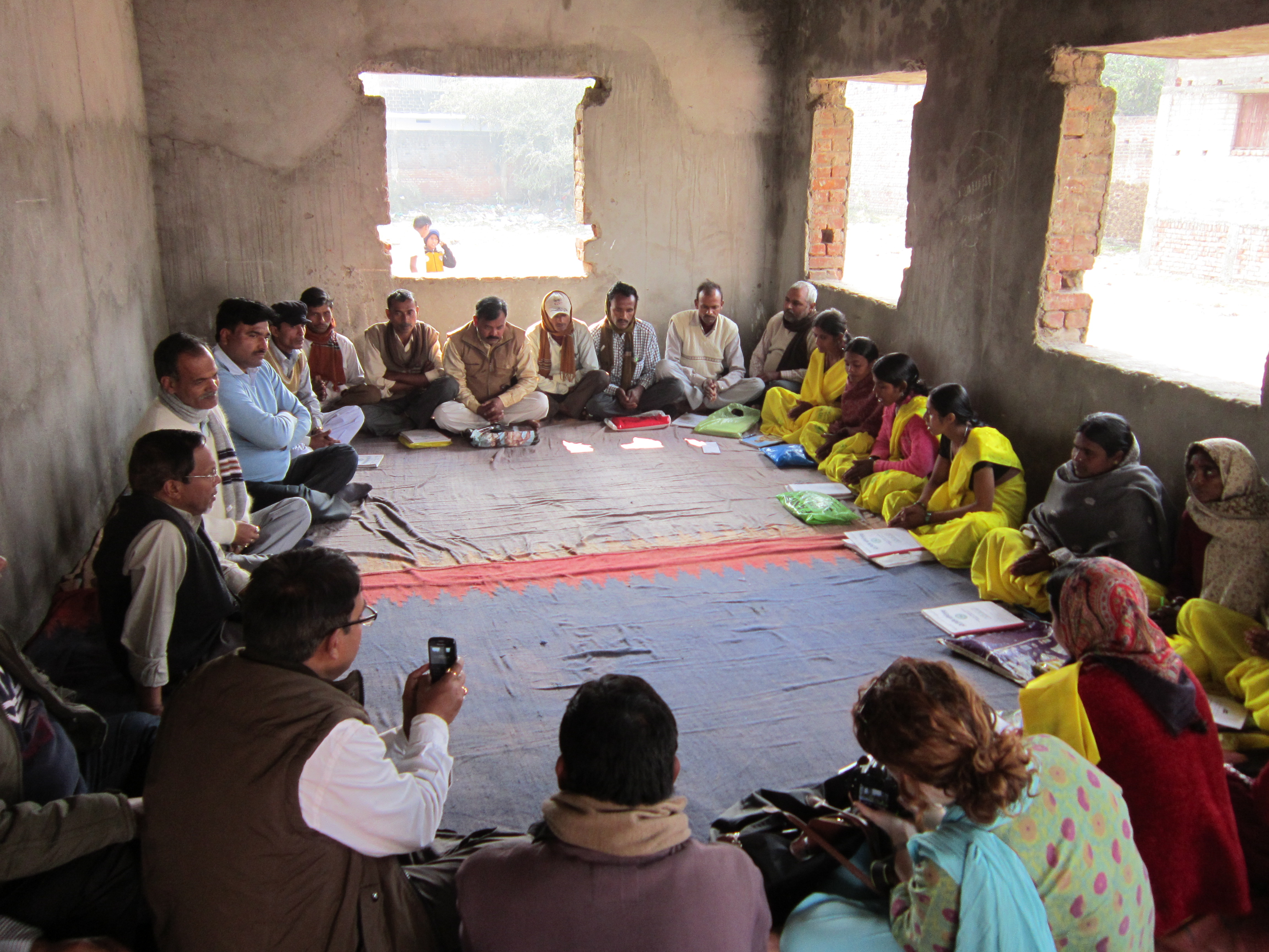 A farmer meeting in Collaboration with an NGO -a village in Bihar