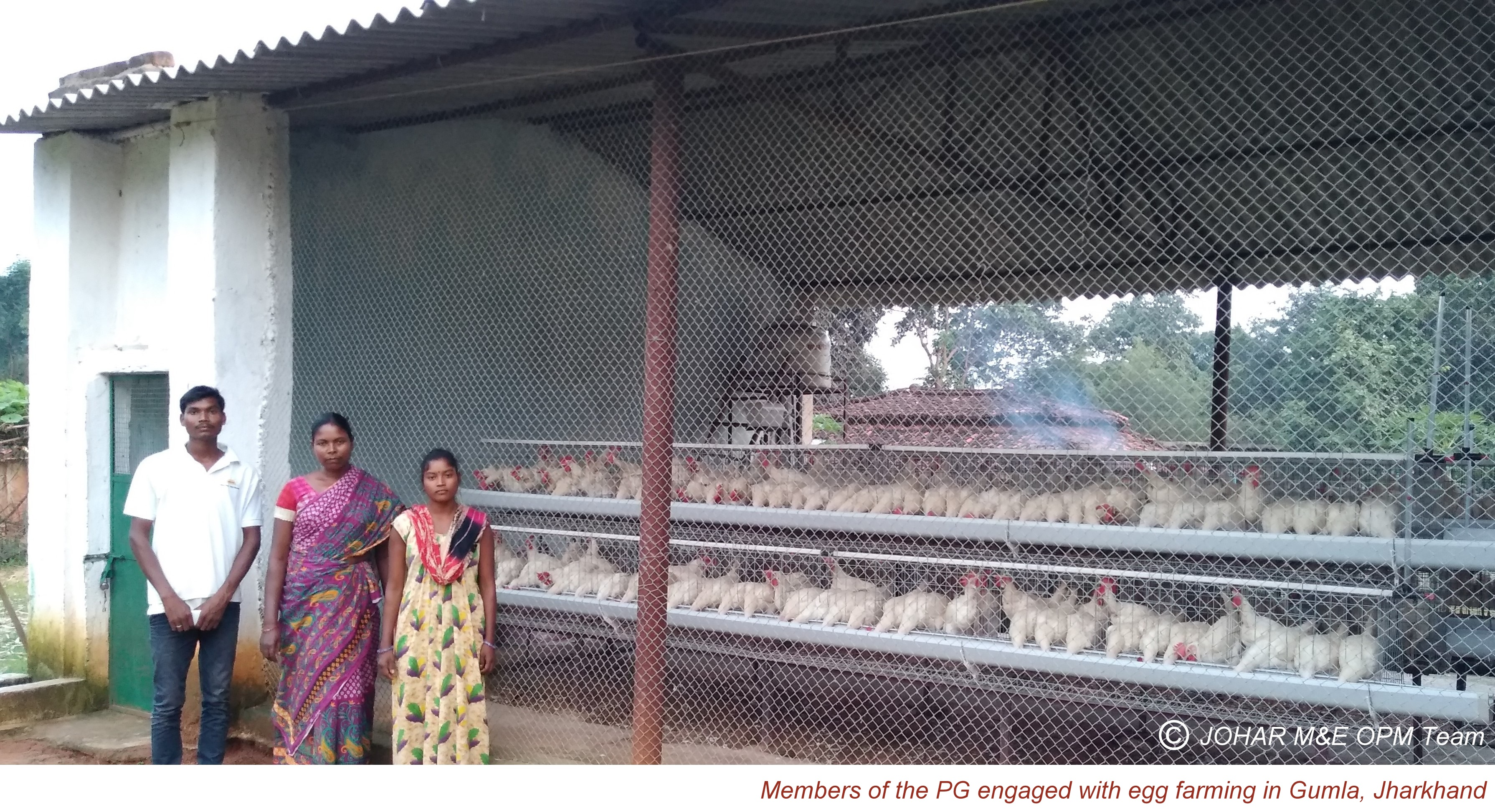 Members of the PG engaged with egg farming in Gumla, Jharkhand – Copy1