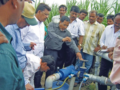 Micro irrigation sytem operation in a village in Telungana –
