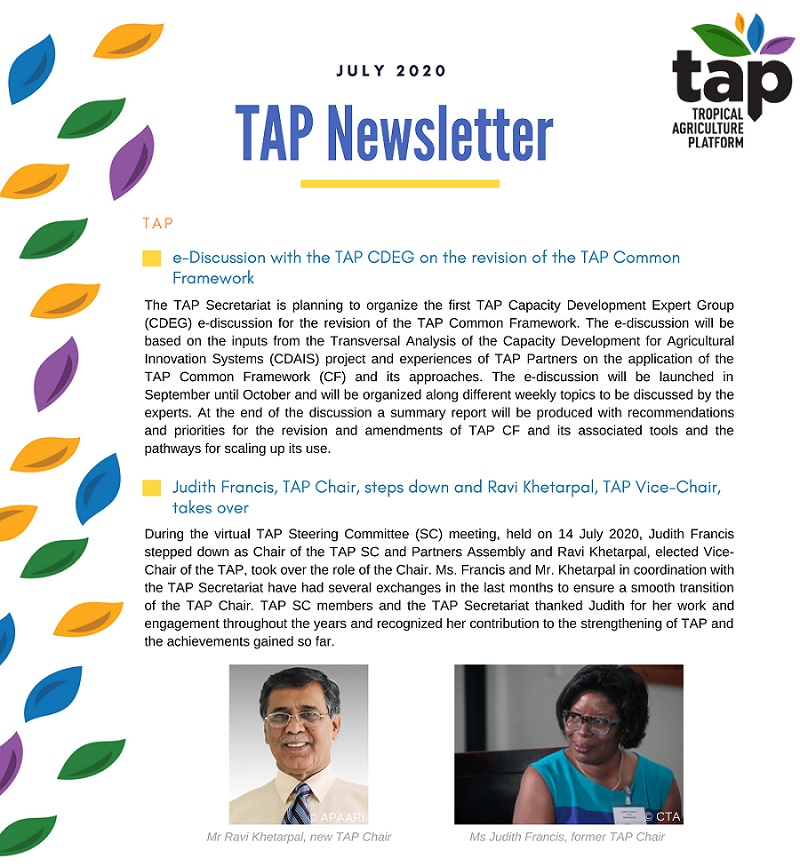 TAP Newsletter July 2020-2