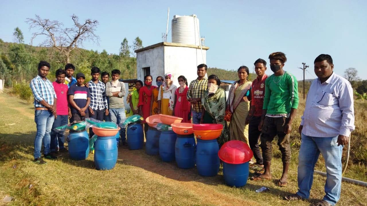 Organic manure kits supported to youth farmers